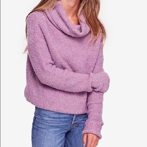 Free People Stormy Fuzzy Cowl Neck Sweater